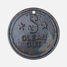 Sewer Cover Ornament (Round)
