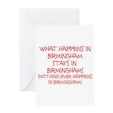 What happens in Birmingham... Greeting Card
