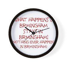 What happens in Birmingham... Wall Clock