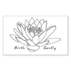Lotus Birth Rectangle Sticker 10 pk)