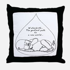 Waterbirth Throw Pillow