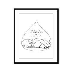 Waterbirth Framed Panel Print