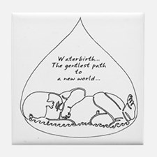 Waterbirth Tile Coaster