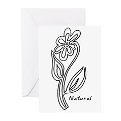 Natural Flower Greeting Cards (Pk of 10)