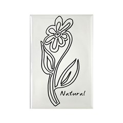 Natural Flower Rectangle Magnet (10 pack)