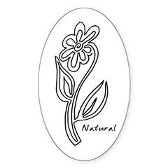Natural Flower Oval Decal