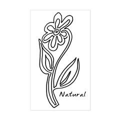 Natural Flower Rectangle Decal