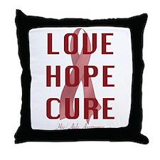 Hiv/Aids Awareness (lhc) Throw Pillow