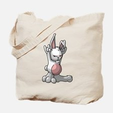 Rock Bunny Tote Bag