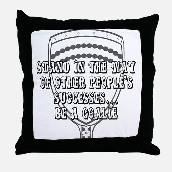 Lacrosse Goalies Amozza Throw Pillow