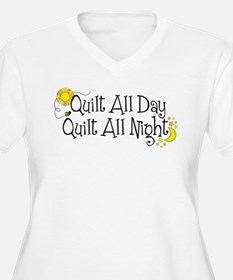 QuiltDayNight2 Plus Size T-Shirt