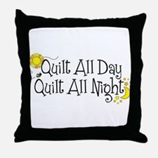 Cute Quilter mom Throw Pillow