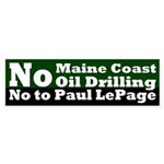 Offshore Oil Paul LePage Bumper Sticker