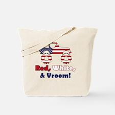 Red, White & Vroom! - Tote Bag