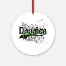Douglas Tartan Grunge Ornament (Round)