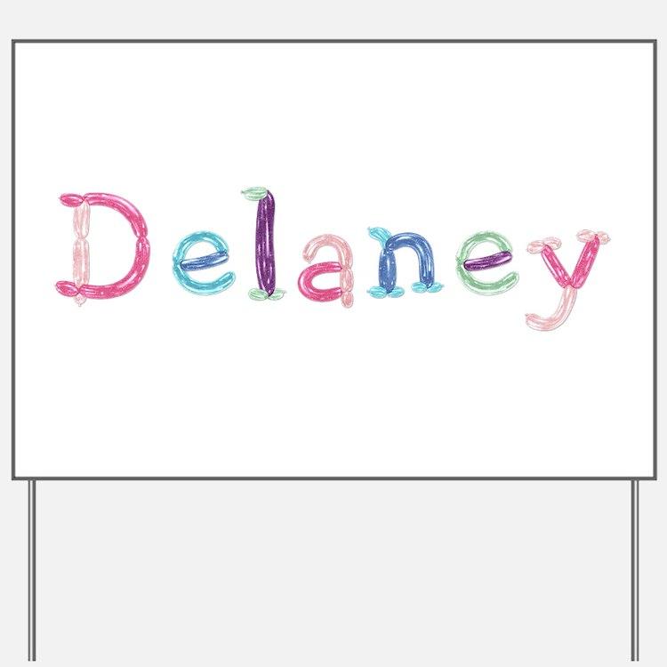 Delaney Princess Balloons Yard Sign
