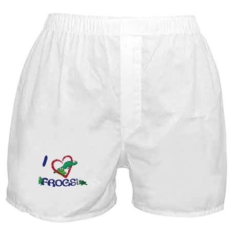 "I ""heart"" frogs Boxer Shorts"