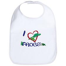 """I """"heart"""" frogs Bib"""