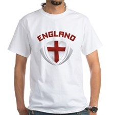 Soccer Crest ENGLAND red / grey Shirt