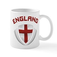 Soccer Crest ENGLAND red / grey Mug