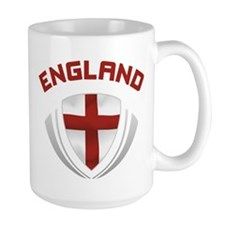 Soccer Crest ENGLAND red / grey Mug