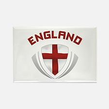 Soccer Crest ENGLAND red / grey Rectangle Magnet