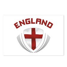 Soccer Crest ENGLAND red / grey Postcards (Package
