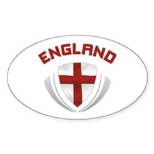 Soccer Crest ENGLAND red / grey Decal