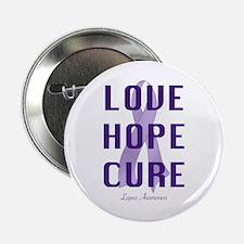"""Lupus Awareness (lhc) 2.25"""" Button"""