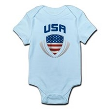 Crest USA blue / grey Infant Bodysuit