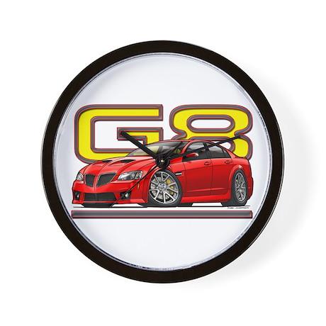 Red Pontiac G8 Wall Clock