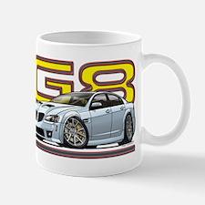 Silver / white G8 Mug