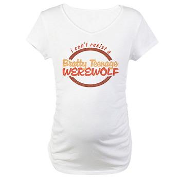 Bratty Teenage Werewolf Maternity T-Shirt