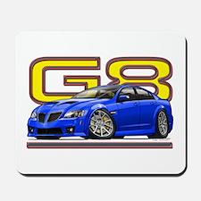Blue Pontiac G8 Mousepad