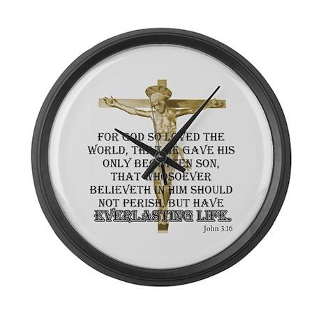 John 3:16 Large Wall Clock