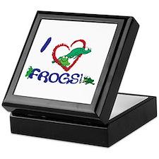 "I ""heart"" frogs Keepsake Box"