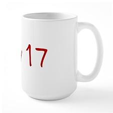 """May 17"" printed on a Mug"