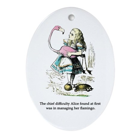 Alice in Wonderland Ornament (Oval)