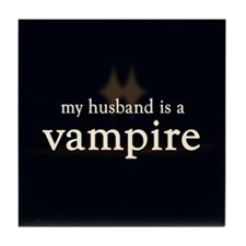 Husband Vampire Tile Coaster