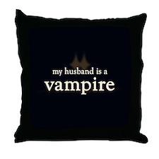 Husband Vampire Throw Pillow