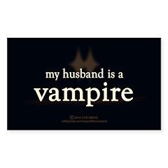 Husband Vampire Sticker (Rectangle 10 pk)