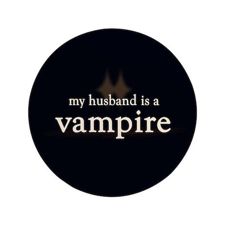 "Husband Vampire 3.5"" Button"