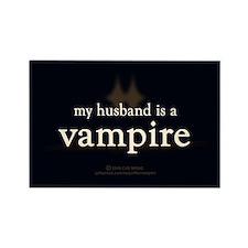 Husband Vampire Rectangle Magnet