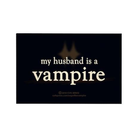 Husband Vampire Rectangle Magnet (10 pack)