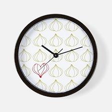 Garlic, please. Wall Clock