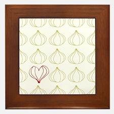 Garlic, please. Framed Tile
