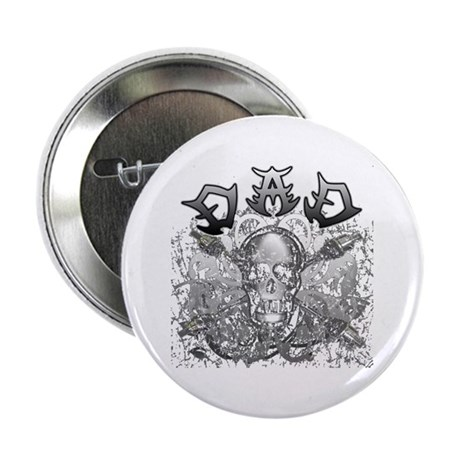 """Grunge with Skull Dad's Day 2.25"""" Button"""