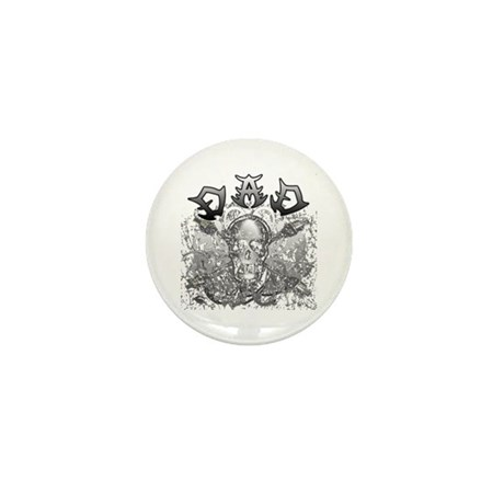 Grunge with Skull Dad's Day Mini Button (100 pack)