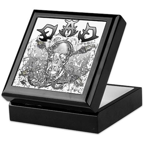 Grunge with Skull Dad's Day Keepsake Box