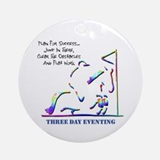 Three Day Eventing Ornament (Round)